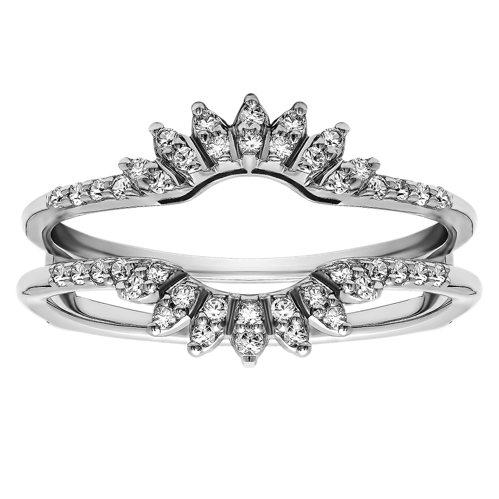 when buying ring guards it is advisable to go for one size larger resizing a ring guard is very difficult and a task rarely performed - Wedding Ring Guards