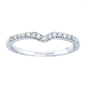 Diamond Contour Band A Great Way To Epitomize Your Endless Love