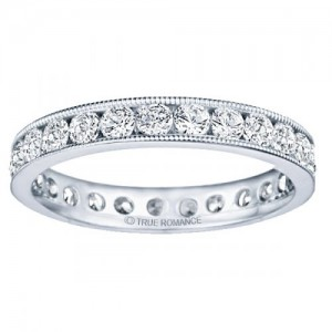 Channel Set Millgrain Eternity Ring