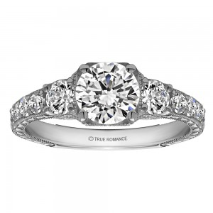 Round Cut Diamond Vintage Engagement Ring