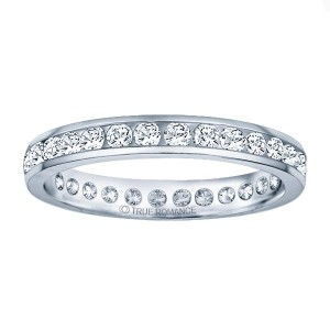 1/4 ct (approx) Round diamond eternity wedding band