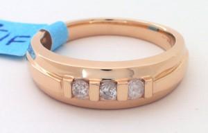 3-ROUND DIAMONDS .33 RD DIA GENT_S RING