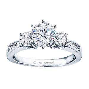Rm576-14k White Gold Classic Engagement Ring