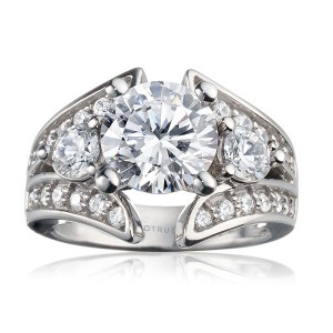 Rm920-14k White Gold Engagement Ring From Nostalgic Collection