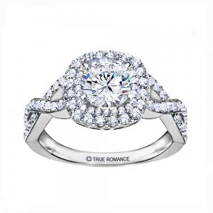 RM1354K Round Diamond Infinity/Halo Engagement Ring