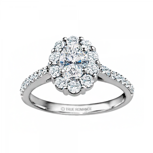 Rm1381v-14k White Gold Oval Cut Halo Diamond Engagement Ring