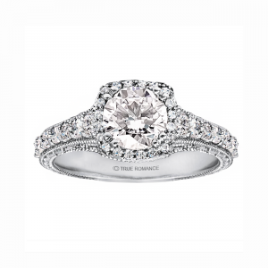 Round Diamond Vintage Engagement Ring