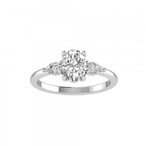 0.40CT PS ENGAGEMENT RING 1.50CT OVAL BUILT IN CENTER