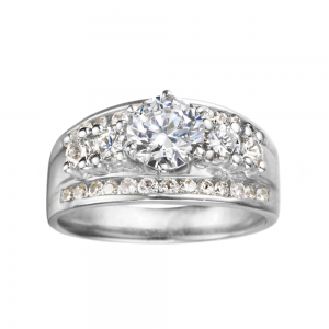 Rm429-14k White Gold Engagement Ring From Nostalgic Collection