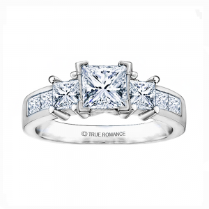 Rm500-14k White Gold Engagement Ring From Nostalgic Collection