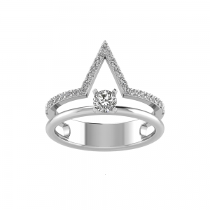 0.22CT RD ENGAGEMENT 0.25 RD BUILT IN CENTER