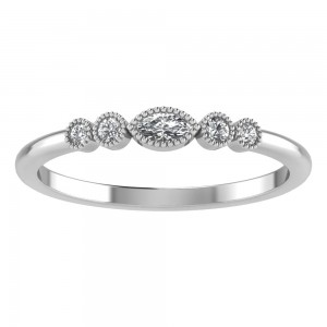 Diamond Eye Millgrain Tiara Band